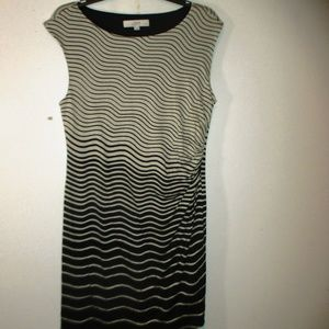 Ann Taylor LOFT dress sleeveless striped size LP